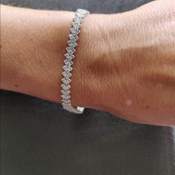 🎉HP🎉4 CT. Round Cut Diamond Bracelet 14K WG